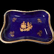 Cobalt Blue Limoges PinTray