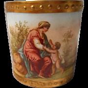 19 Century Royal Vienna Style Demitasse Cup, Artist Signed