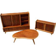 Vintage Mid Century Retro Doll House Furniture from Germany