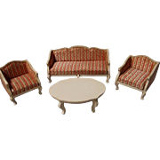 Vintage German Victorian Style Doll House Settee Set