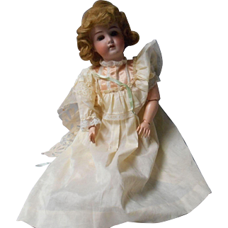 Antique 23 inch Bisque Head, Doll by Wm. Goebel