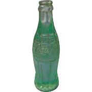 "Vintage Miniature green plastic ""Coca-Cola"" Bottle"