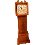 Dollhouse Grandfather Clock and Cradle