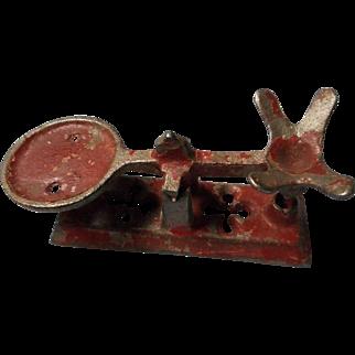 Vintage Cast Iron Doll House Balance Scale