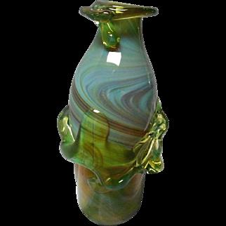 Vintage Hand Blown Art Glass Vase