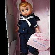 """Madame Alexander 1991 8"""" Sailor Boy for  FAO Schwarz"""