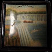 Vintage Niagara Falls Powder Compact