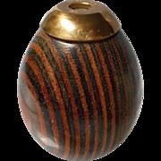 Carved Wooden Egg Shaped Kaleidoscope Signed Van Cort