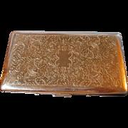 Vintage Silverplate Calibri Cigarette Case