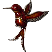 Vintage Humming Bird Brooch