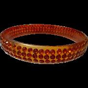 Vintage  Celluloid Bracelet with inset Rhinestones
