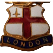 Vintage Enameled London Charm