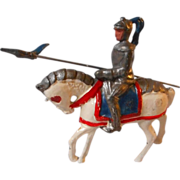 All Metal Knight on Horseback with spear