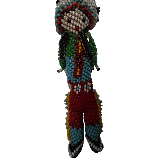 Vintage Hand Beaded Native American Doll