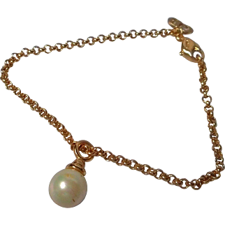 Vintage Christian Dior Faux Pearl Bracelet