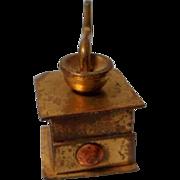 Vintage Miniature Brass Coffee Grinder