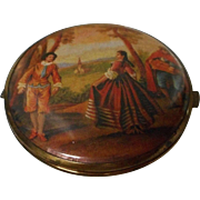 Vintage Double Sided Compact Mirror