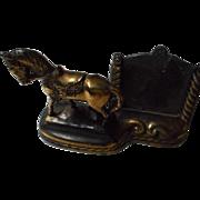 Vintage Cast Metal Horse and Frame