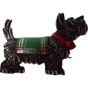 Vintage Czechoslovakia Celluloid Scottie Dog Brooch