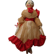 "Vintage Miniature 2.5 "" Wooden Peg Doll"