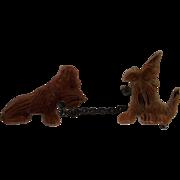 Vintage Celluloid Scottie Dog Brooch