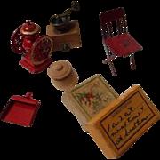 Vintage Set of Doll House Miniatures