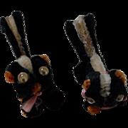 Vintage Pipe Cleaner Skunks with Google Eyes