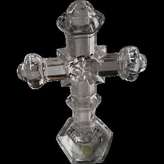 Vintage German Crystal Crucifix