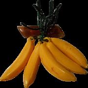 Vintage Bakelite and Banana Brooch