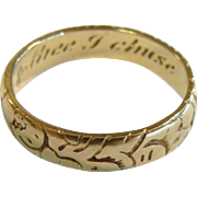 Engraved 14K Gold Ring