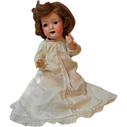 "13"" Bisque Head Baby Doll by Morimura Bros."