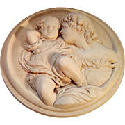Vintage High Relief Wall Plaque