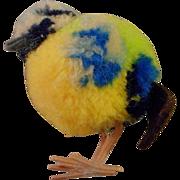 Vintage Steiff PomPom Blue Bird - Red Tag Sale Item