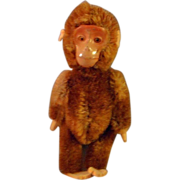 5 Inch Schuco Mohair, Mechanical Yes-No Monkey with Metal Face