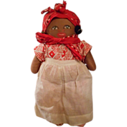 Vintage Cloth Hand Painted Black Memorabilia Mammy Doll