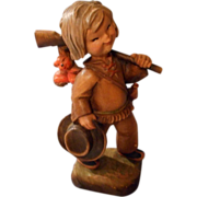 Wonderful Vintage Carved Anri Boy Hunter, by Ferrandiz, Numbered