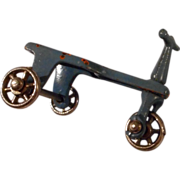 Adorable Vintage Miniature Cast Metal Tri Wheeled Scooter by Kilgore