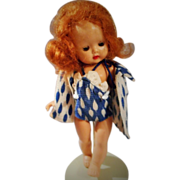 """Unusual Red Haired, 8 Inch Strung"""" Muffie"""" by Story Book Dolls in Rare Outfit - Red Tag Sale Item"""
