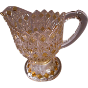 Fine Cut and Block 6 Inch Pitcher by King Glass, 1890's