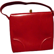 Fabulous Vintage Red Leather Handbag