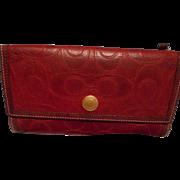 Coach Vintage Leather Wallet, Dark Red