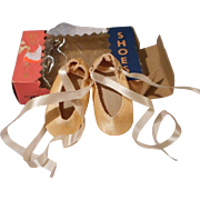 Vintage Ballet Shoes for Compo Doll in Original Box