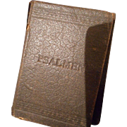 Vintage Miniature Leather Book of Psalms from Germany, Early 1900's