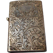Vintage 950 Sterling Etched Zippo Lighter