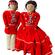 Navajo Indian Dolls with Hand Beading