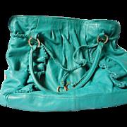 Junior Drake All Leather Teal color Hand Bag