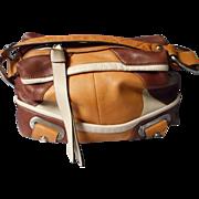 Vintage B. Makowsky Leather Patchwork Handbag