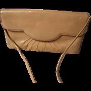 Vintage Judith Leiber Leather Envelope Clutch