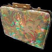 Vintage Multicolored Satin Handbag - Red Tag Sale Item