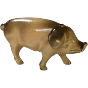 Detailed Cast Metal Pig